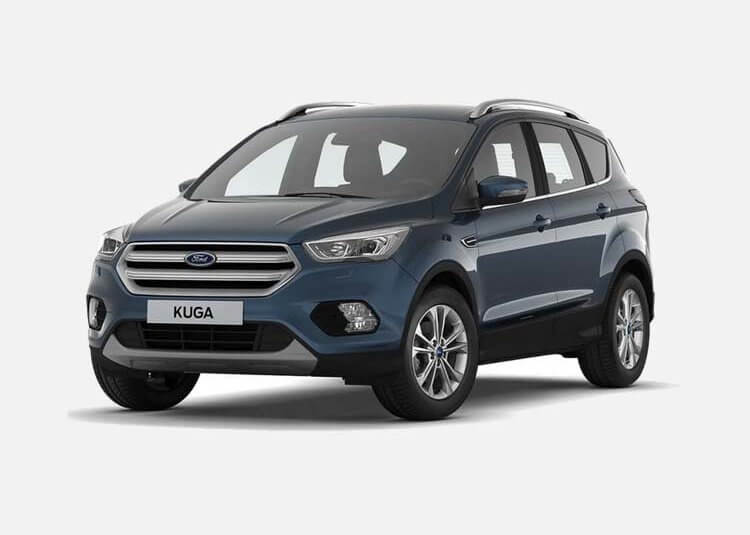 Ford Kuga SUV Titanium 2.0 Diesel AWD 150 KM Manual Blue Metallic